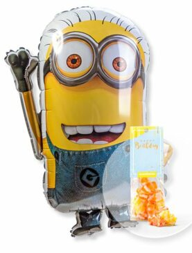 Ballon Minion und Fruchtgummi Happy Birthday