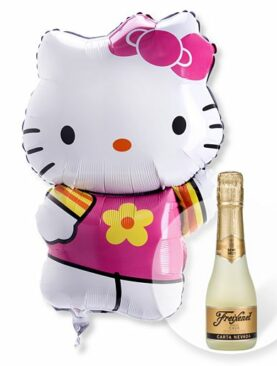 Ballon Hello Kitty und Freixenet Semi Seco